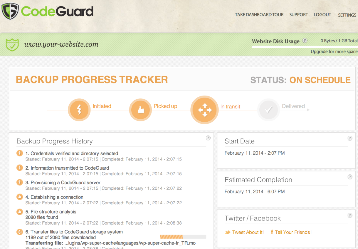 Codeguard Backup